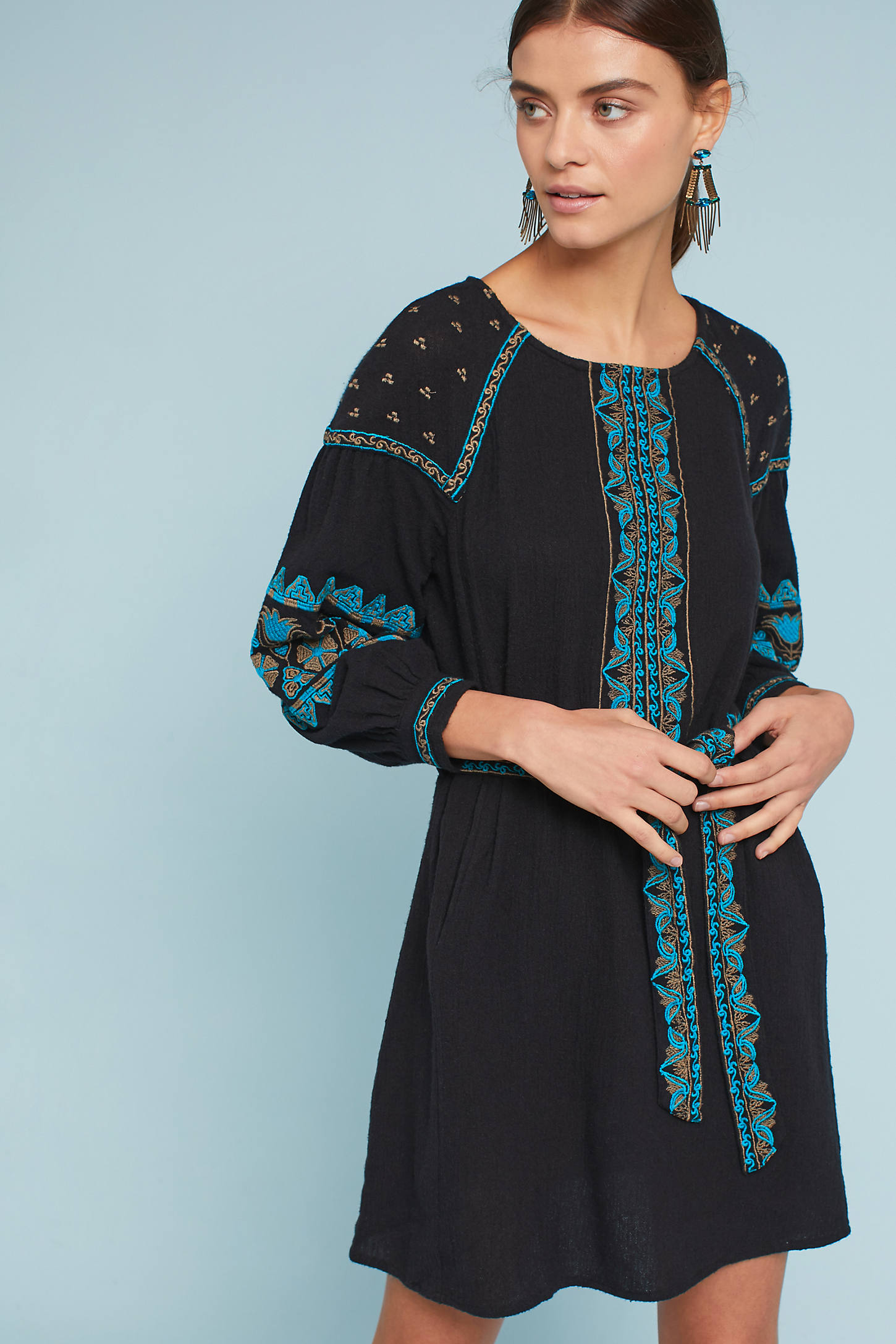 Antik Batik Petite Embroidered Dress