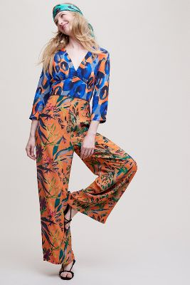 Maviren Printed Jumpsuit by Bl Nk