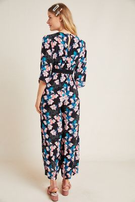 Miley Printed Wide Leg Jumpsuit by Bl Nk
