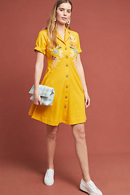 Slide View: 1: Varadero Collared Shirtdress