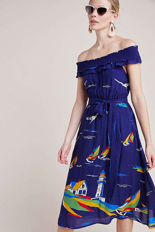 Colloquial Off-The-Shoulder Dress - Assorted, Size Uk 6