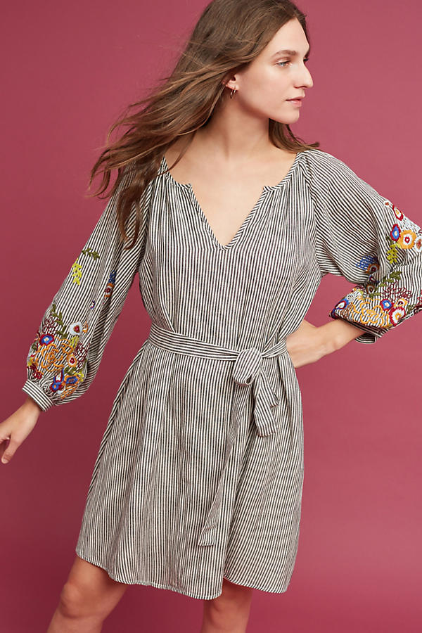 Slide View: 1: Lindsey Embroidered Tunic Dress