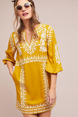 Slide View: 1: Shiloh Embroidered Tunic Dress