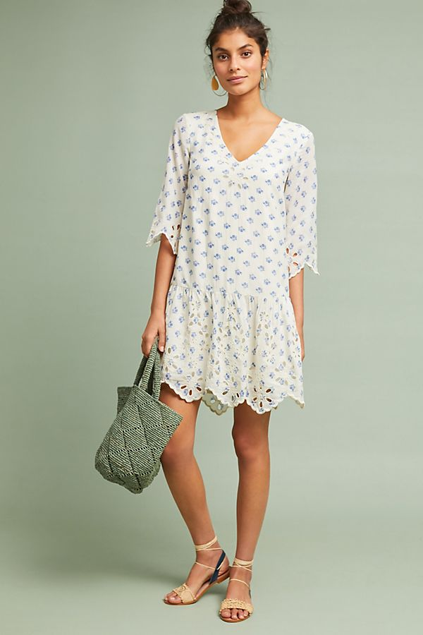 Anthropologie Eyelet Tunic Dress