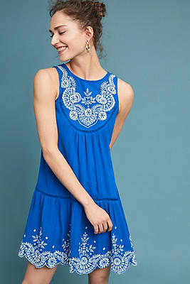 Slide View: 1: Wadden Embroidered Dress