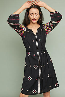 Slide View: 1: Henrietta Embroidered Dress