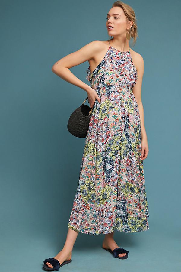 Allerton Maxi Dress - Pink, Size L Petite