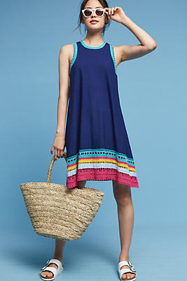 Slide View: 1: Crochet Trim Swing Dress