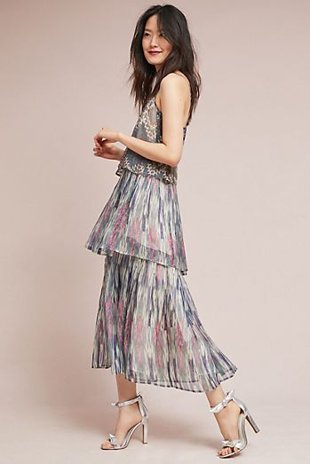 Wedding guest dresses anthropologie josie tiered maxi dress junglespirit