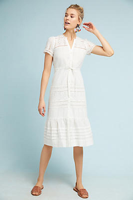 Slide View: 1: Brigid Eyelet Shirtdress