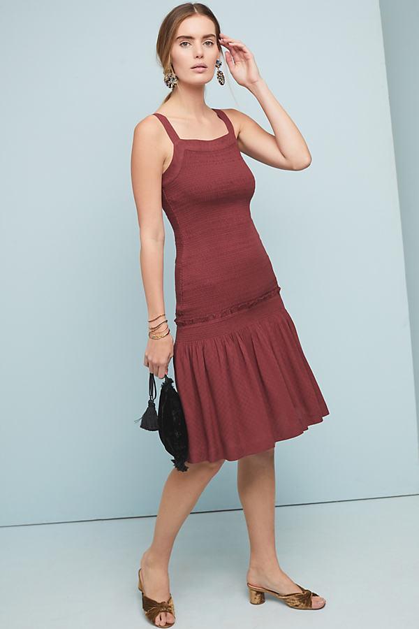 Escondido Smocked Dress - Purple, Size M