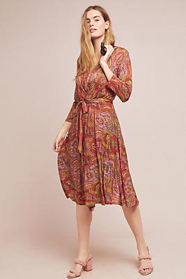 Slide View: 1: Paisley Midi Dress