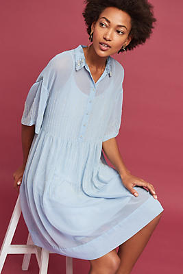Slide View: 1: Pallavi Beaded Shirtdress