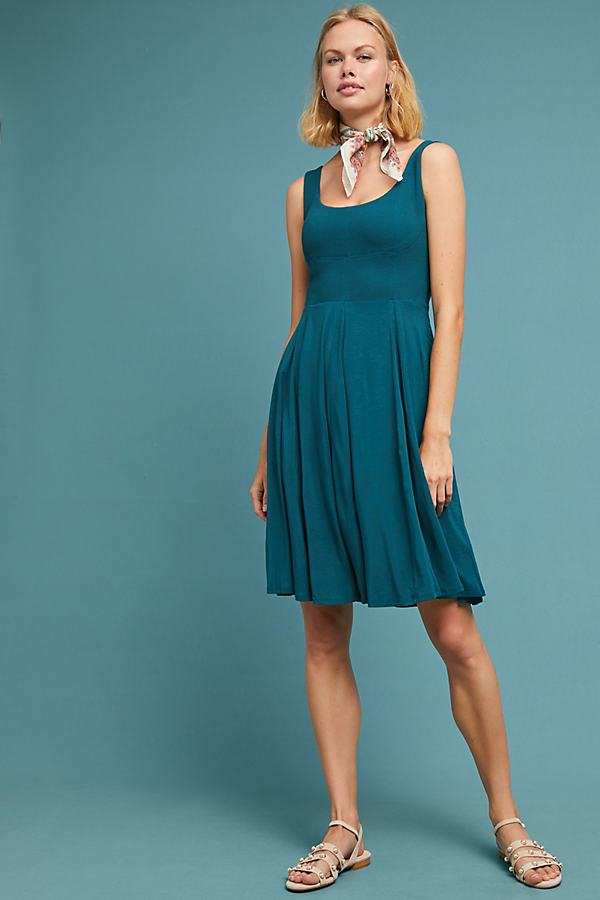 Estoria Textured Swing Dress - Green