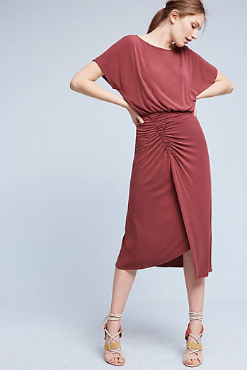 Etta Ruched Midi Dress