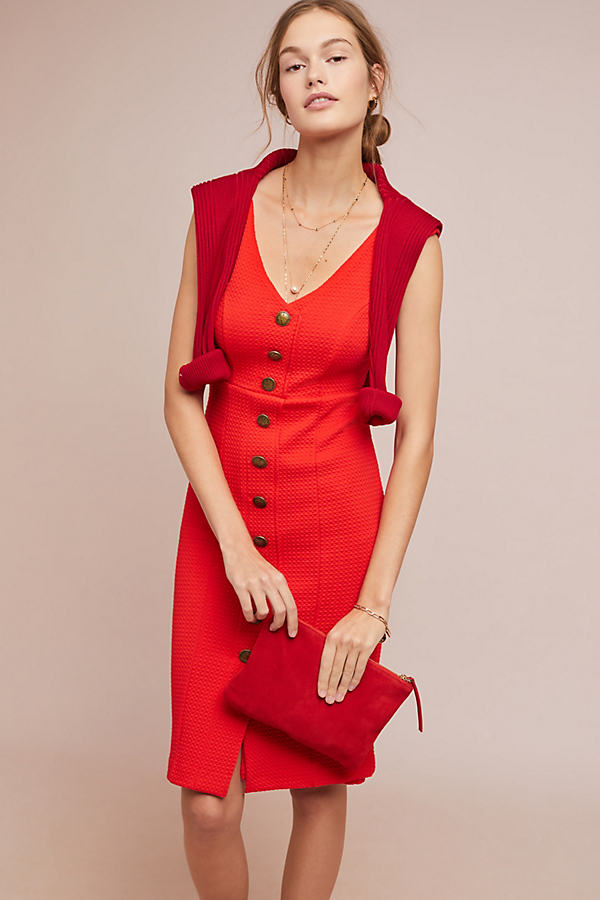 Rita Column Dress - Red, Size L