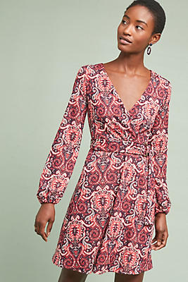 Slide View: 1: Paisley Belted Dress