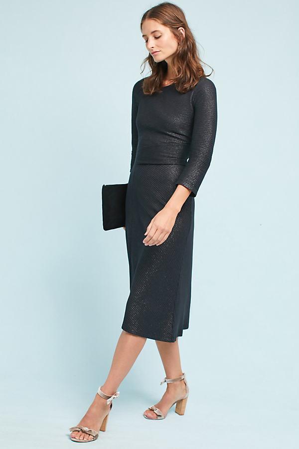 Tegan Knit Dress - Black, Size M Petite
