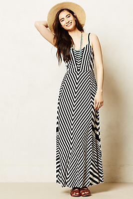 Meter Stripe Maxi Dress - Anthropologie