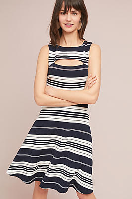 Slide View: 1: Riley Striped Knit Dress