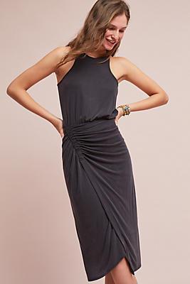 Slide View: 1: Gathered Jersey Midi Dress