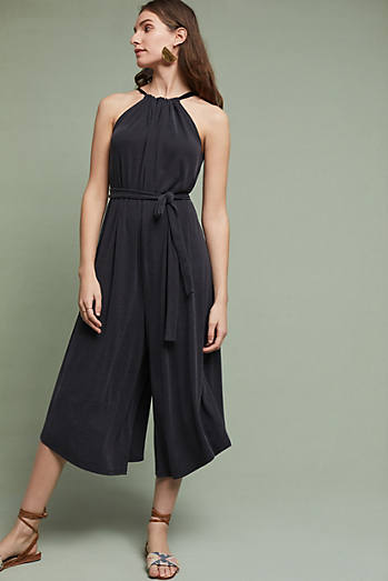 Wide-Leg Halter Jumpsuit