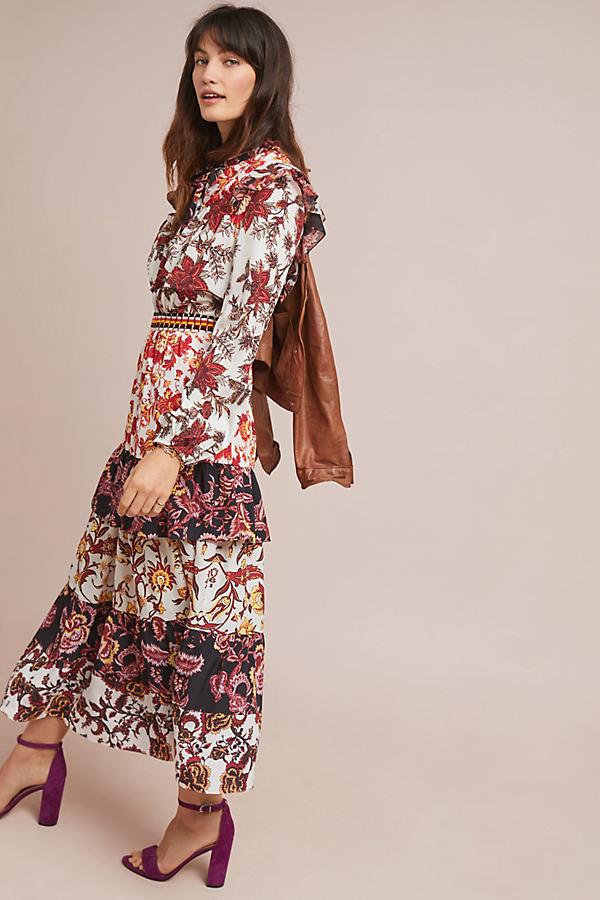 Printed Tiered-Hem Maxi Dress - Assorted