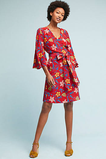 Magpie Silk Wrap Dress