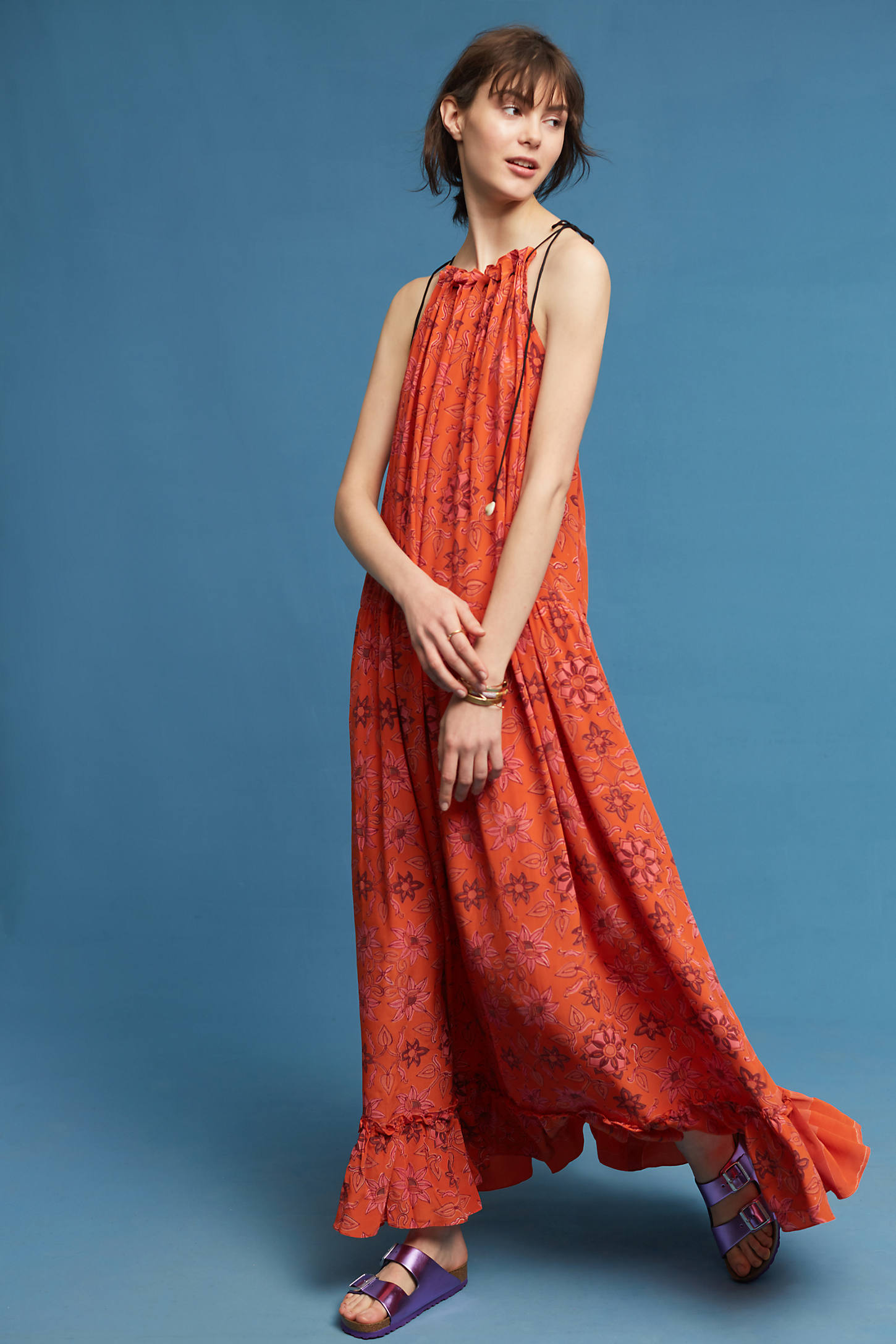 Riya Silk Halter Dress