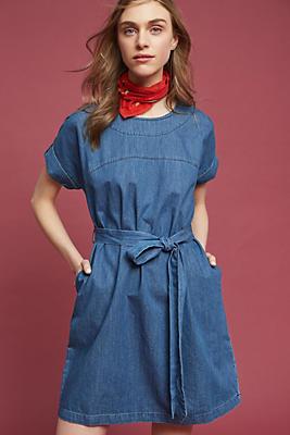 Slide View: 1: Faded Denim Dress