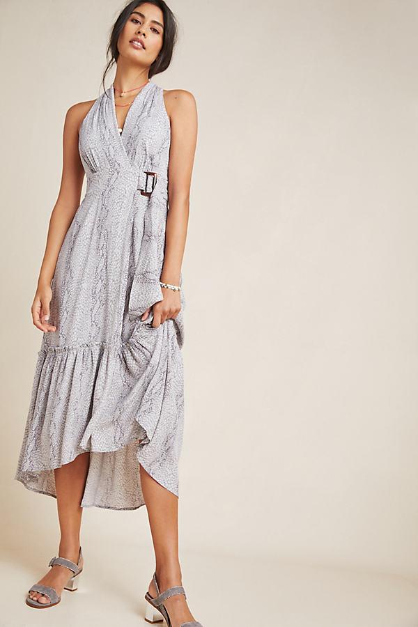 Marfa Dress - Grey Motif, Size Uk 16