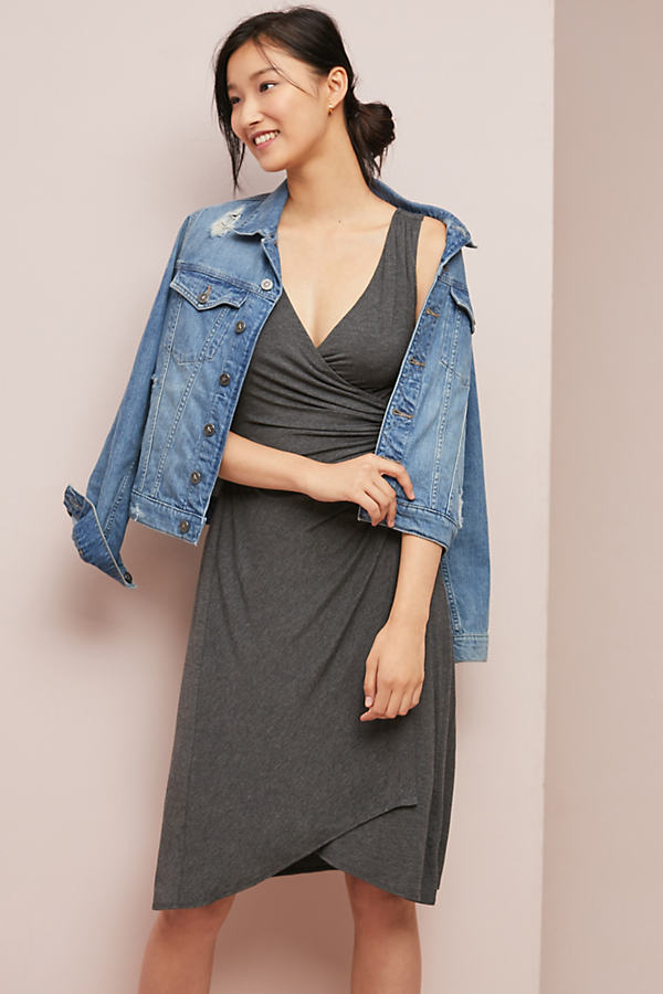Yvette Ruched Dress - Grey, Size Xl