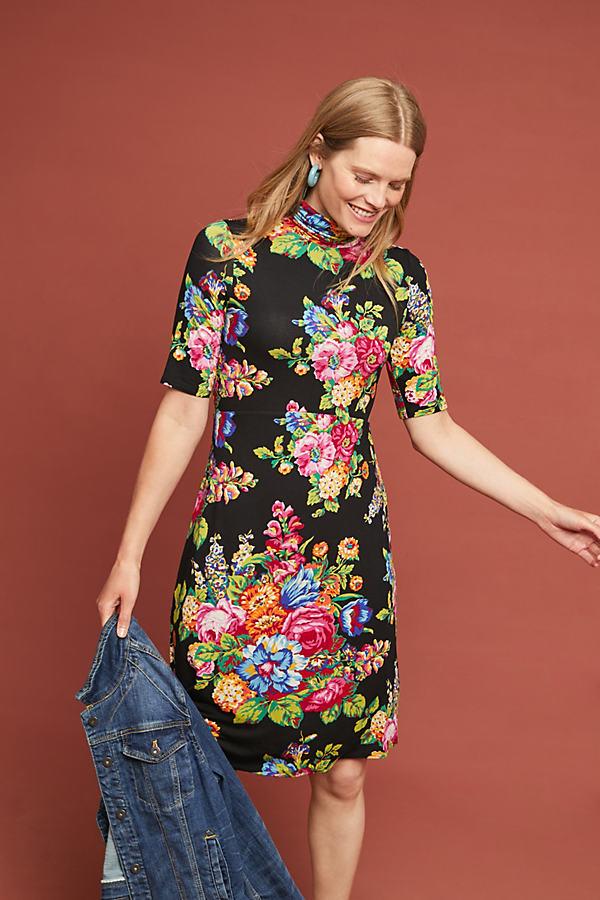 Coreyell Kleid mit Stehkragen - Assorted