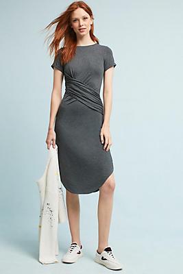Slide View: 1: Curved Hem Knit Dress