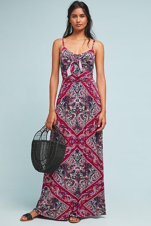 Brisbane Maxi Dress - Purple, Size L