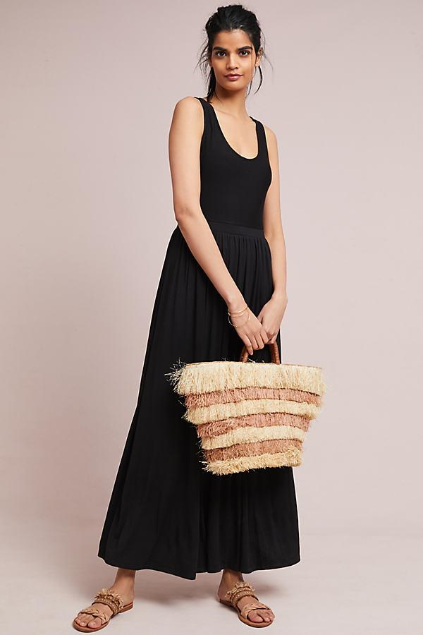 Cross Back Maxi Dress - Black