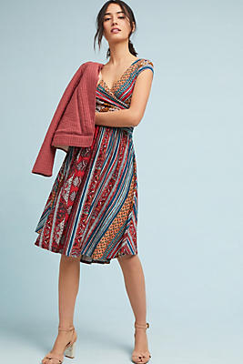 Slide View: 1: Tamera Wrap Dress