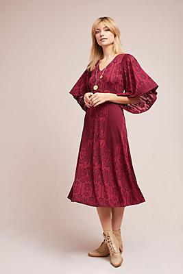 Slide View: 2: Isolde Bell-Sleeved Dress