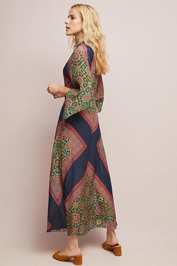 Oralie Silk Maxi Dress - Assorted, Size Uk 14