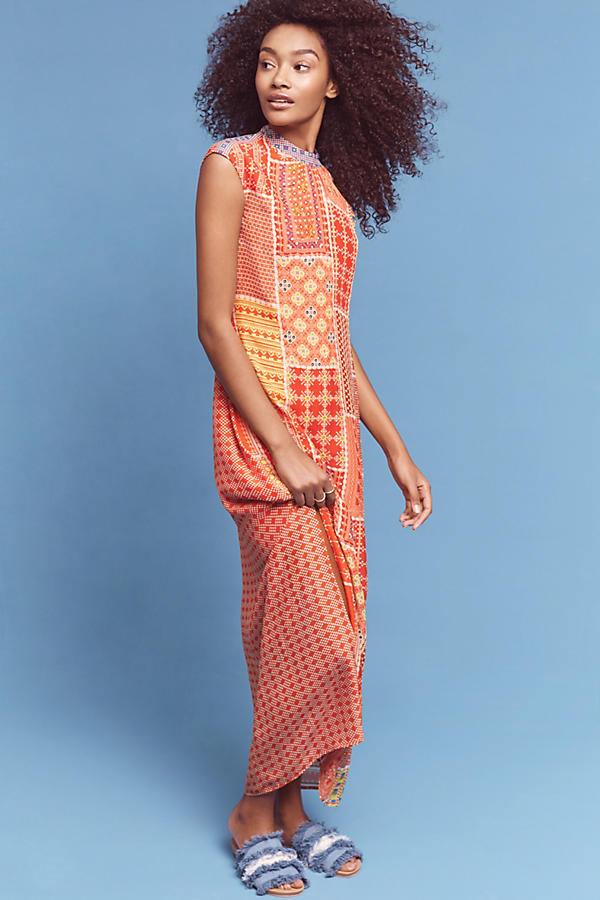 Slide View: 1: Robe en patchwork Sol