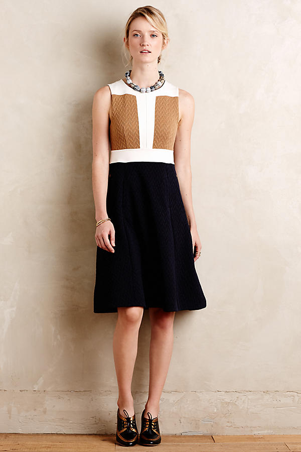 Cabled Colorblock Dress Anthropologie