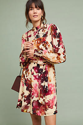 Slide View: 1: Watercolor Hibiscus Dress