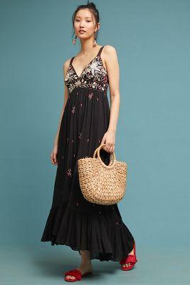 c8564f014eae3 Shoptagr | Fiona Embroidered Maxi Dress by Ranna Gill