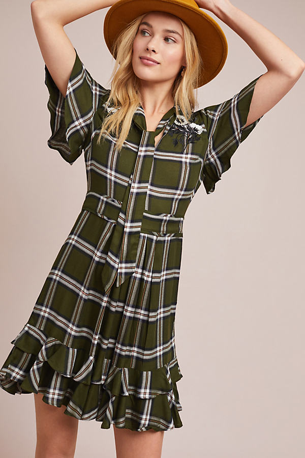 Olivia Plaid Dress - Assorted, Size M