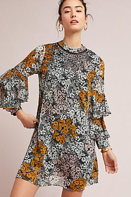 Slide View: 1: Fluttered Tunic Dress