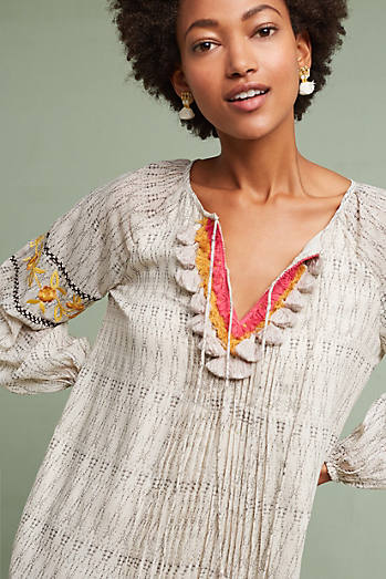 Karina Embroidered Tunic Dress
