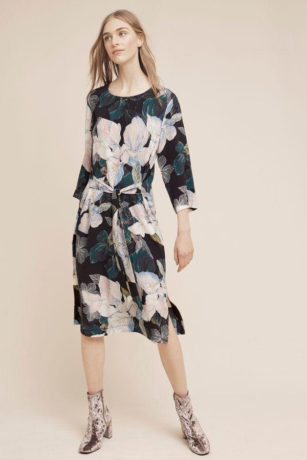 Kachel Giacinta Silk Midi Dress