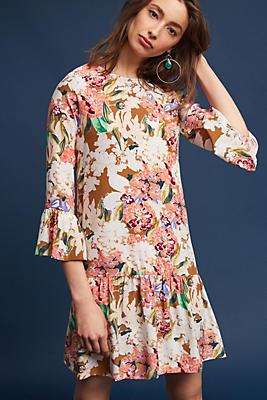 Slide View: 1: Zohra Silk Peplum Dress