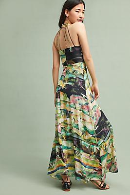 Painterly Silk Maxi Dress | Anthropologie
