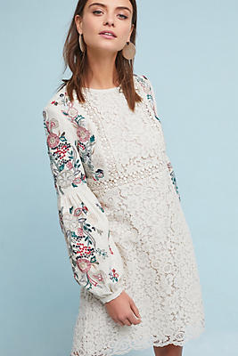 Slide View: 1: Victoria Embroidered Tunic Dress
